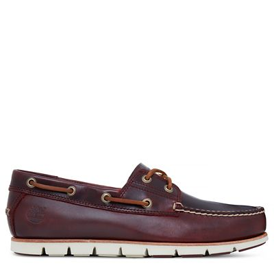 Tidelands+Boat+Shoes+for+Men+in+Burgundy