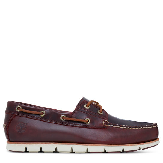 Tidelands Boat Shoes for Men in Burgundy | Timberland