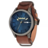Blue Dial Brown Strap