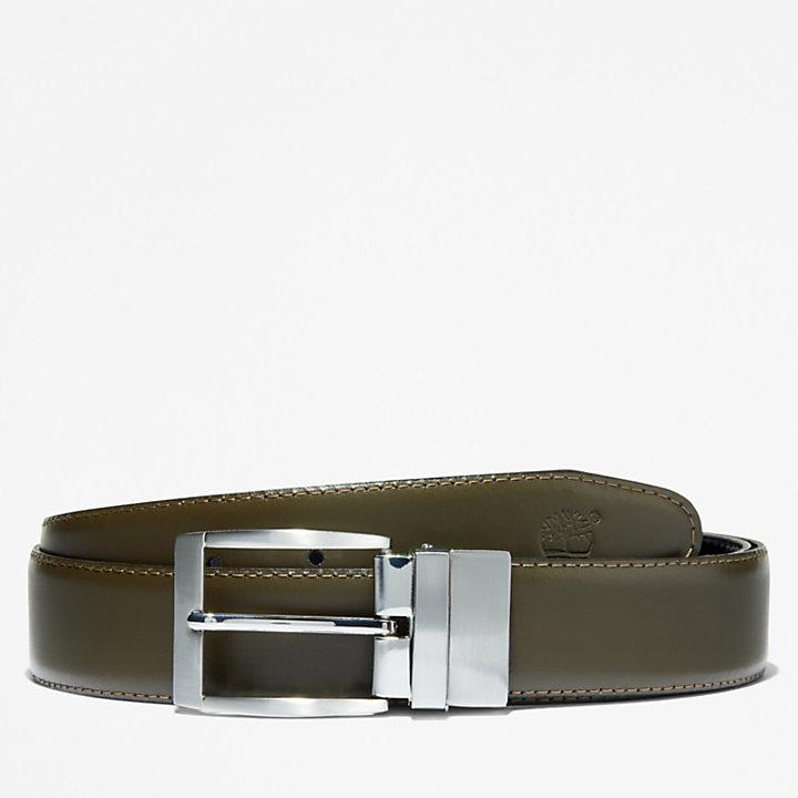 Reversible Belt for Men in Greige-