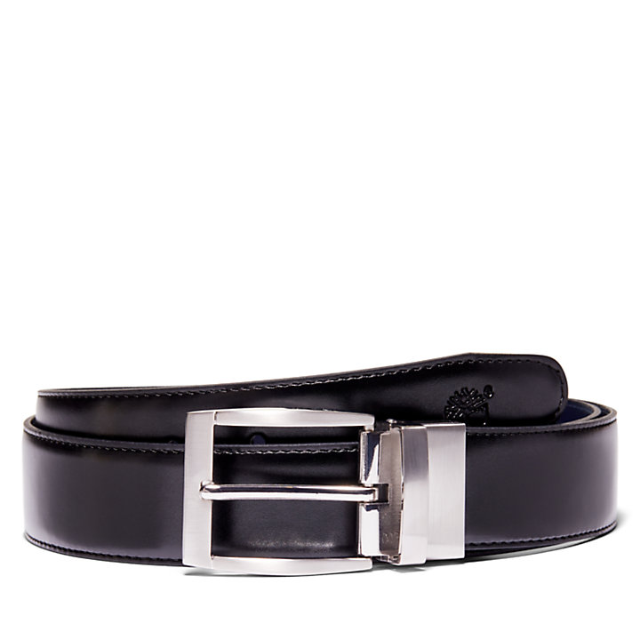 Reversible Belt for Men in Navy-