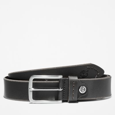 Narrow+Leather+Belt+for+Men+in+Black