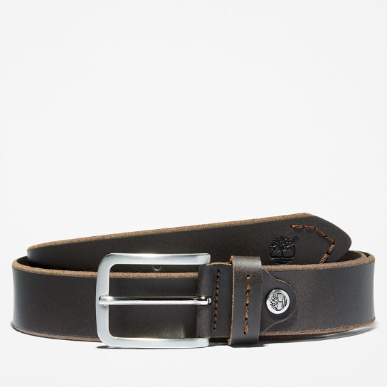 Narrow Leather Belt for Men in Brown | Timberland