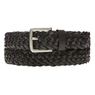 Plaited+Belt+for+Men+in+Black