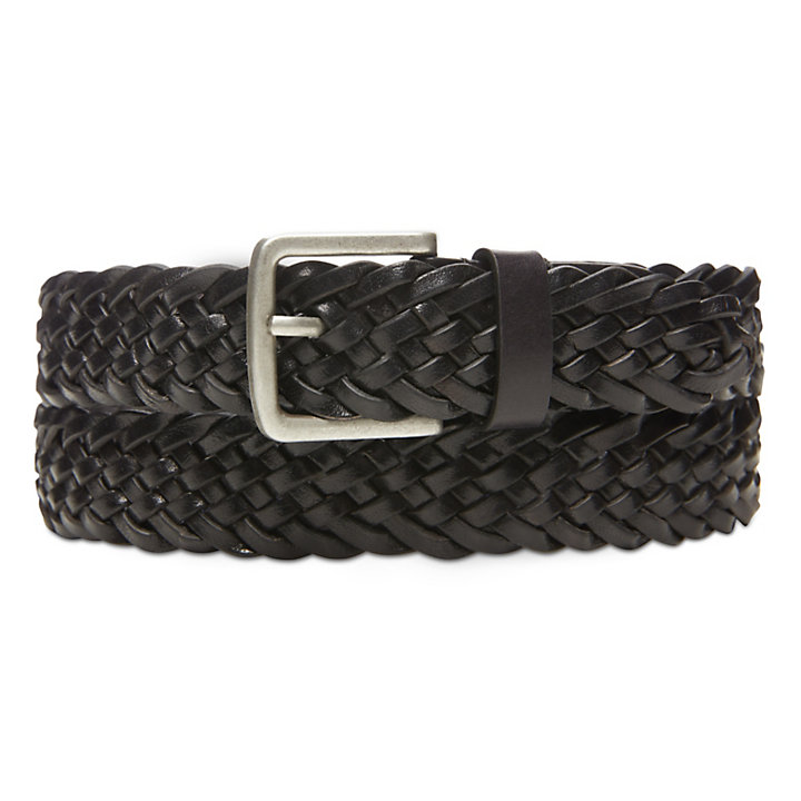 Plaited Belt for Men in Black-