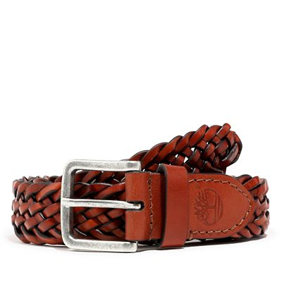 Plaited+Belt+for+Men+in+Brown