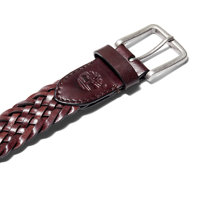 Cinturón Trenzado para Hombre en marrón oscuro-