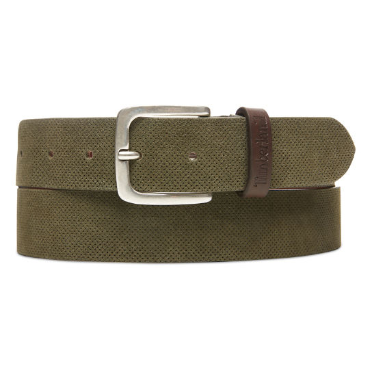 Suede Leather Belt for Men in Green | Timberland