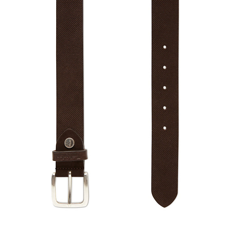 Suede Leather Belt for Men in Brown-