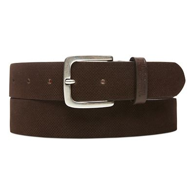 Suede+Leather+Belt+for+Men+in+Brown