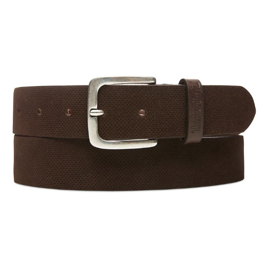 Suede Leather Belt for Men in Brown | Timberland