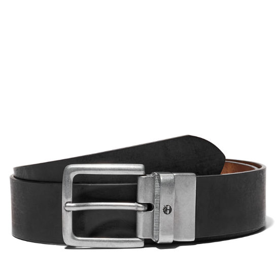 Reversible Leather Belt for Men in Black/Brown | Timberland