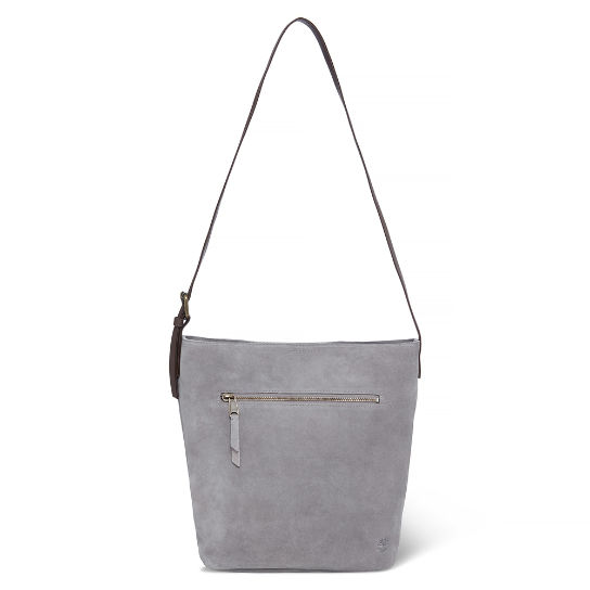 Tillston Leather Hobo Bag Grigio Gesso Donna | Timberland