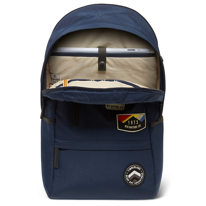 Ferndale Backpack with Patches in Blue-