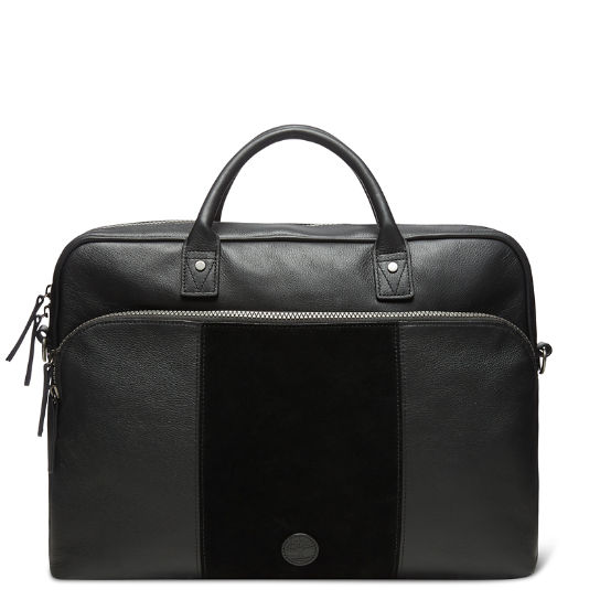 Tuckerman Slim Suede Briefcase in Black | Timberland