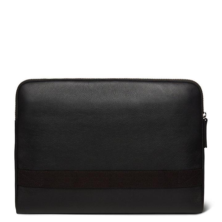 Tuckerman Suede Laptop Sleeve in Black-