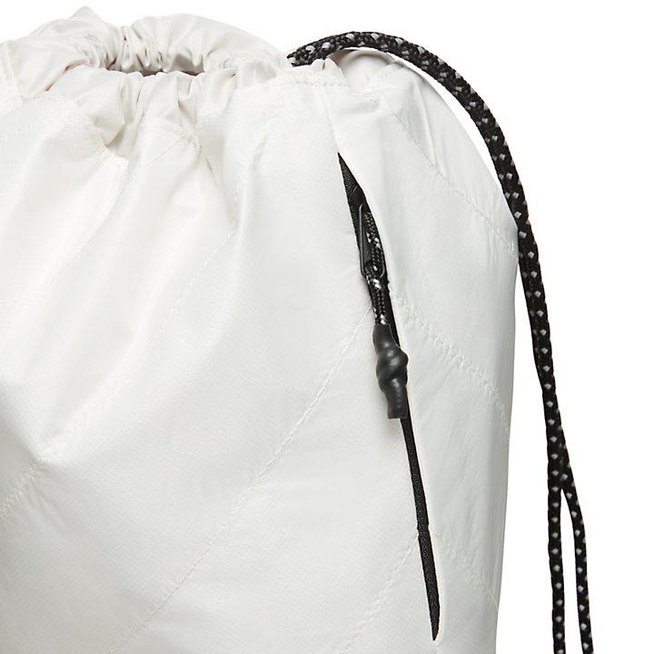 Mochila con Cordón Ajustable en Blanco-