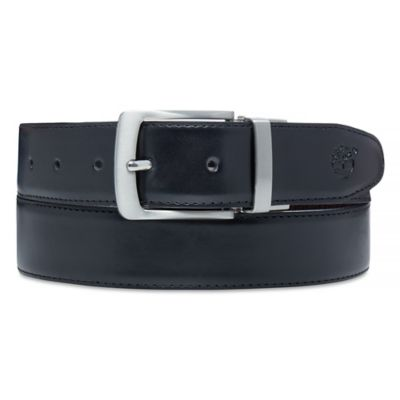 Reversible+Leather+Riem+voor+Heren+in+Zwart