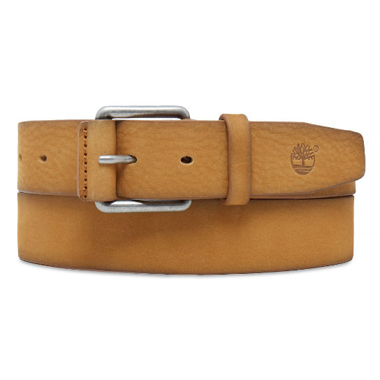 Men's Washed Nubuck Belt Yellow | Timberland