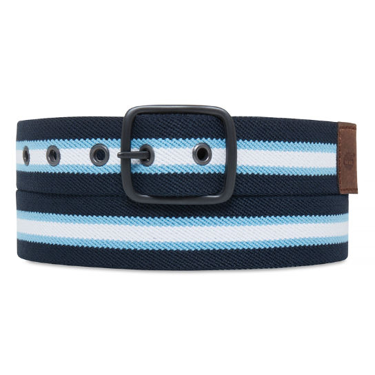 Striped Canvas Belt Uomo Blu marino | Timberland