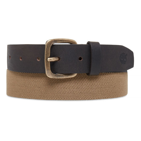 Herren Elasticated Belt Kaki | Timberland