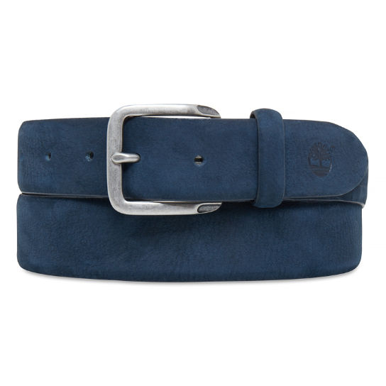 Men's Casual Line Textured Leather Belt Blue | Timberland