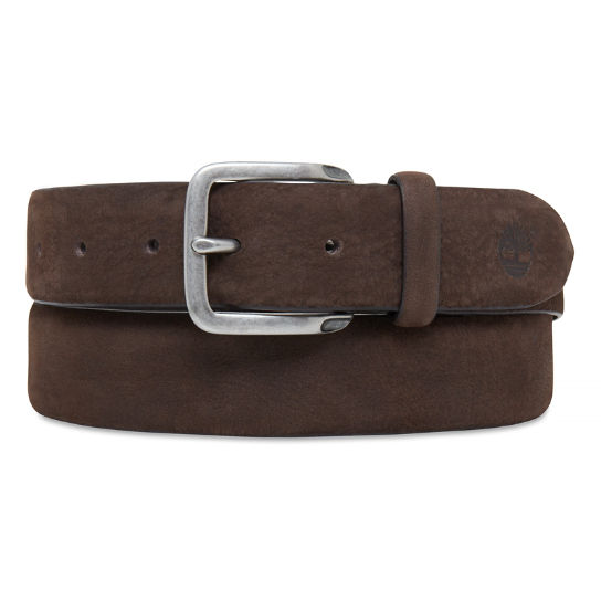 Casual Line Textured Leather Belt Hombre Chocolate | Timberland