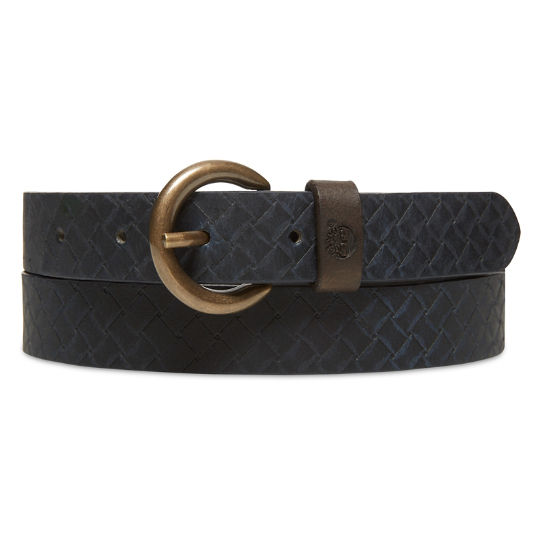 Textured Leather Belt for Women in Blue | Timberland