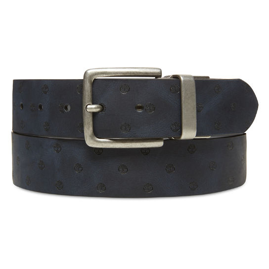 Textured Leather Belt for Men in Grey | Timberland