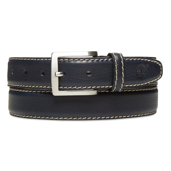 Belt with Contrast Stitching for Men in Navy | Timberland