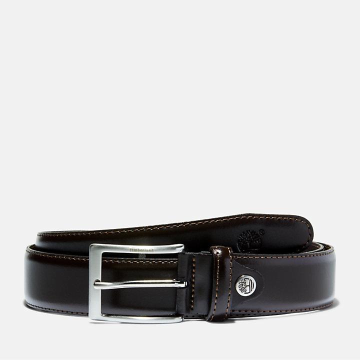 Cintura Classica da Uomo con Fibbia Squadrata in marrone scuro-