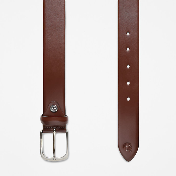 Leather Belt for Men in Brown-