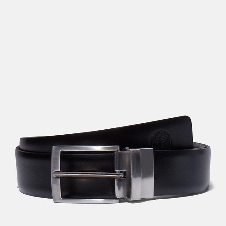 Cintura Double-Face da Uomo in colore nero-