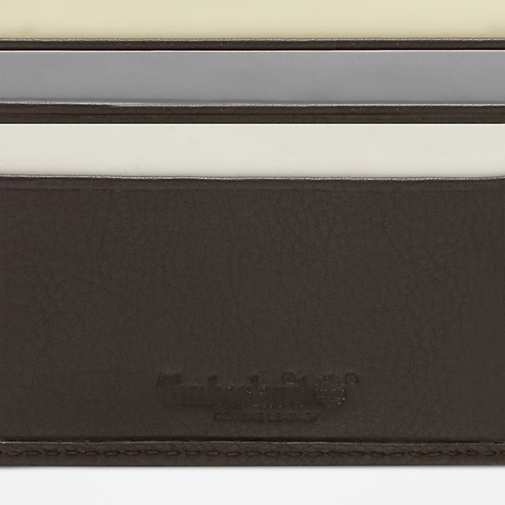 Kennebunk Large Wallet for Men in Dark Brown-