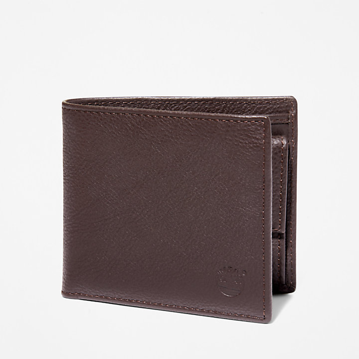 Kennebunk Bifold Wallet for Men in Dark Brown-