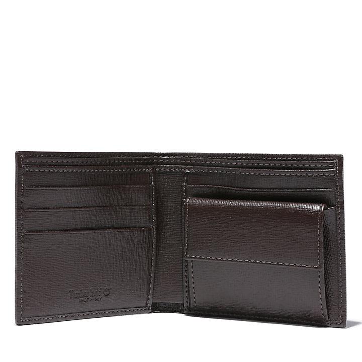 Grand portefeuille  pour homme en marron foncé-