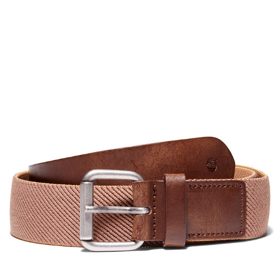Canvas Stretch Belt for Men in Brown | Timberland