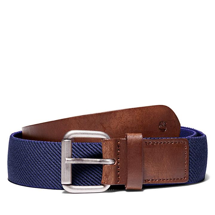 Cintura da Uomo in Tela Elasticizzata in blu marino-