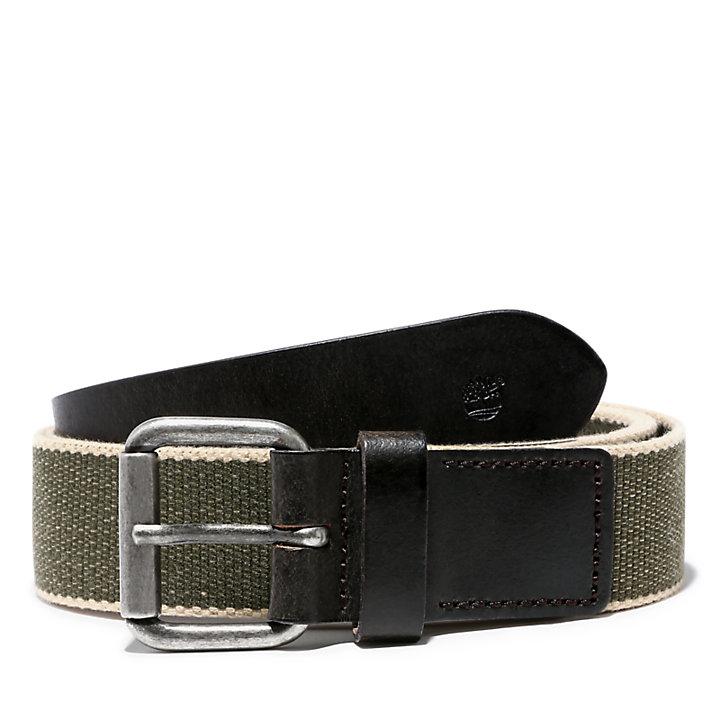 Canvas Belt for Men in Green-