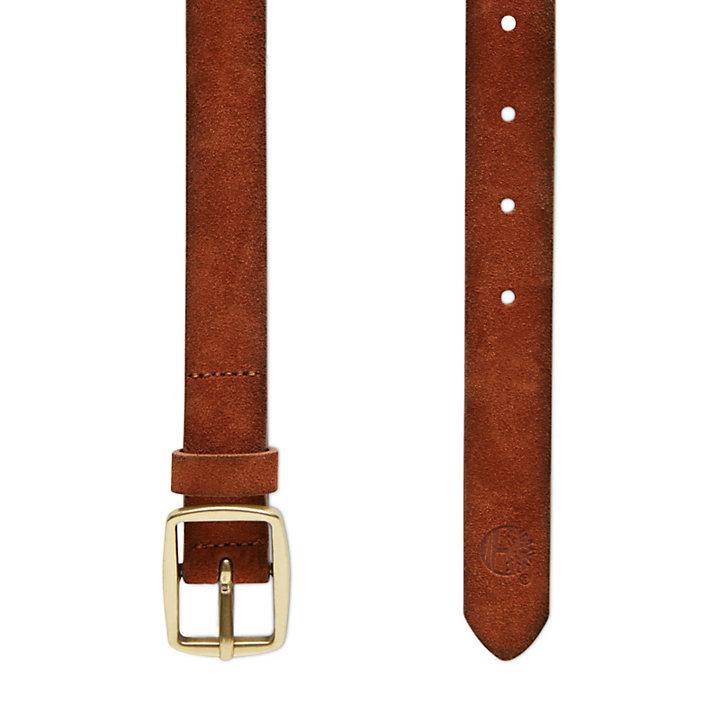 Cinturón de Ante para Mujer en marrón claro-