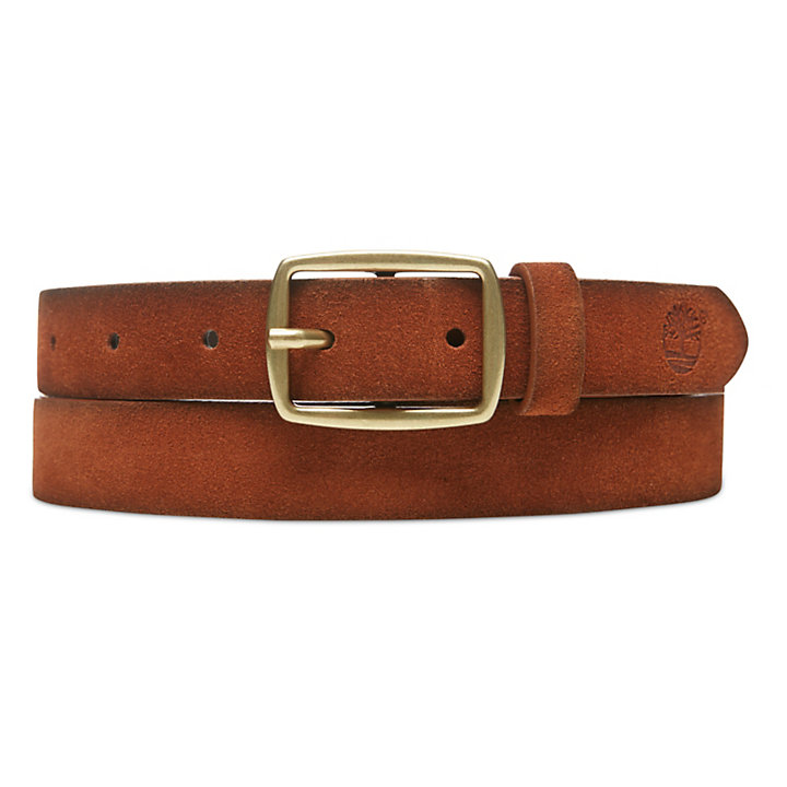 Suede Leather Belt for Women in Light Brown-