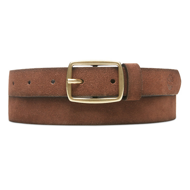 Suede Leather Belt for Women in Brown-