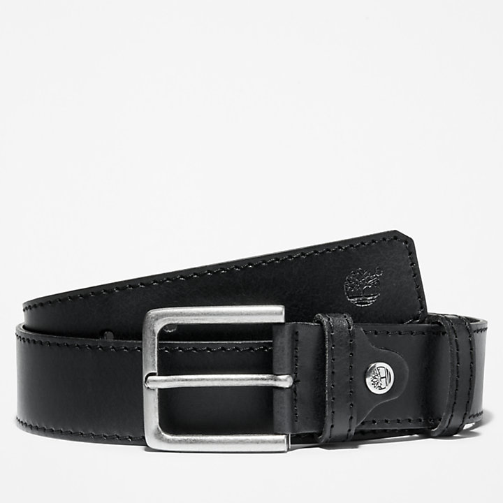 Cintura in Pelle da Uomo in colore nero-