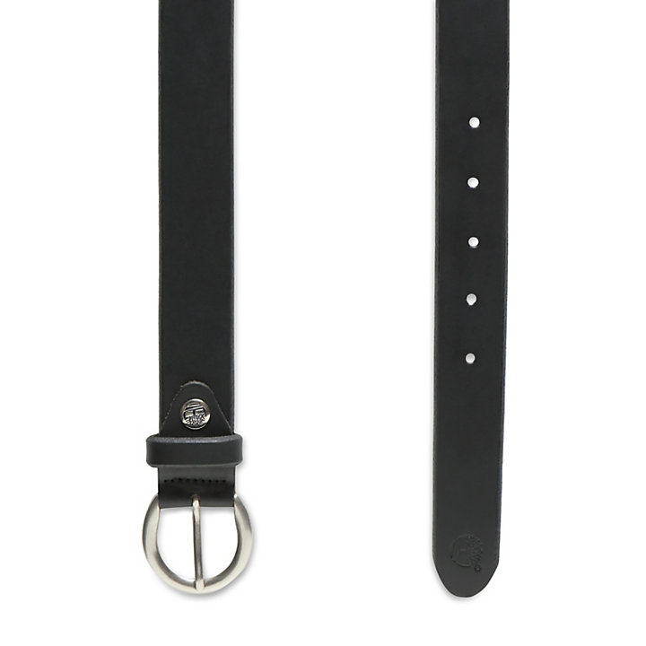 Leather Belt for Women in Black-