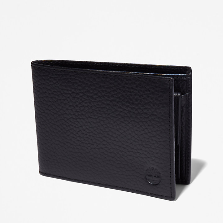 Edgartown Large Wallet for Men in Black-