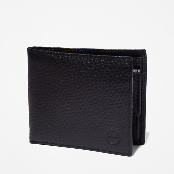 Edgartown Nubuck Wallet for Men in Black-