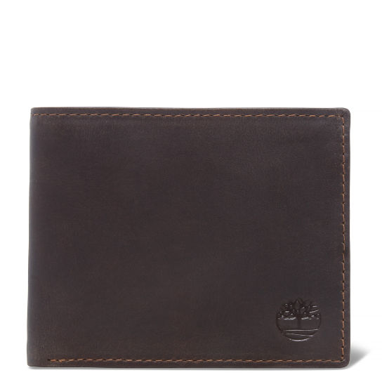 Grafton Notch Small Leather Wallet for Men in Dark Brown | Timberland
