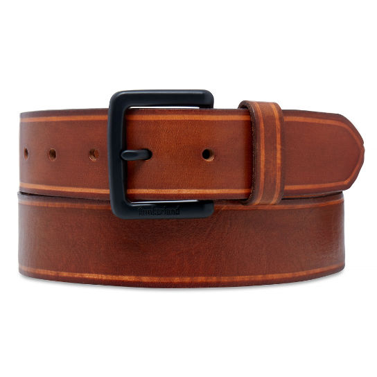 Men's Coloured Edge Belt Brown | Timberland