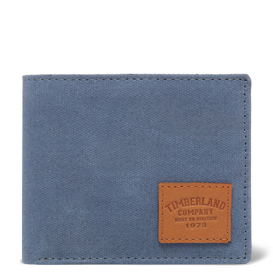 Waxed Canvas Wallet gris hombre | Timberland
