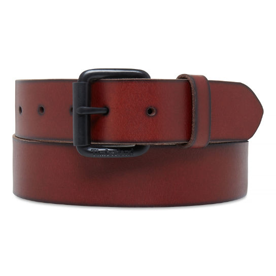 38mm Leather Belt Uomo Marrone | Timberland